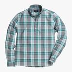 Lee // Green Stripe + Checkered Plaid (Medium (Slim))