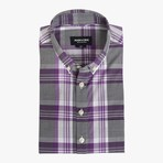 Lee // Purple Stripe + Checkered Plaid (Large (Athletic))