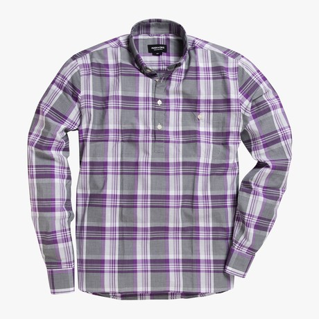 Lee // Purple Stripe + Checkered Plaid (Small (Skinny))