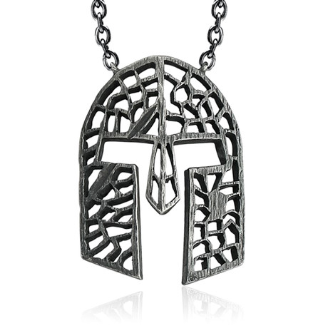 Cut-Out Viking Helm Necklace (60 cm // 24 in)