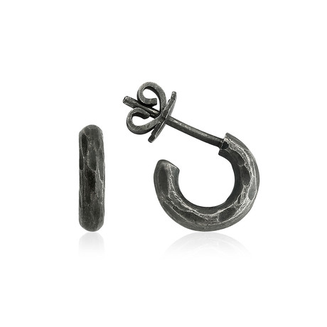 Thick Metal Ring Earring // Small