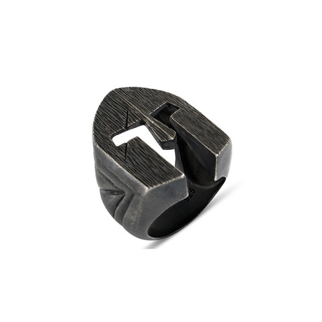 Dark Viking Helm Ring (Size 8)
