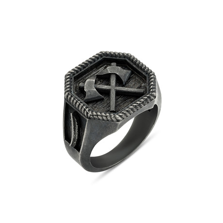 Axe Cross Ring (Size 8)
