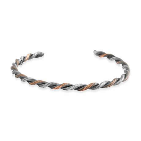 Twisted Silver + Copper Bracelet (5–6 cm // 2–2.3 in)