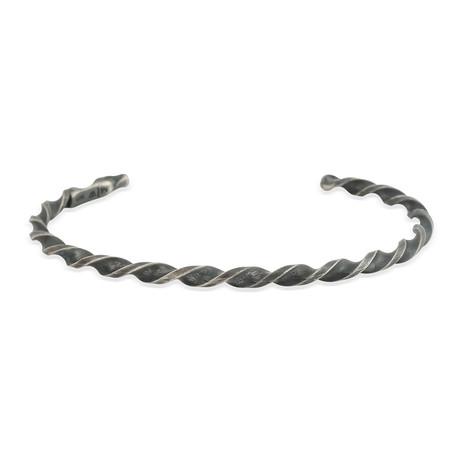 Twisted Silver Bracelet (5–6 cm // 2–2.3 in)