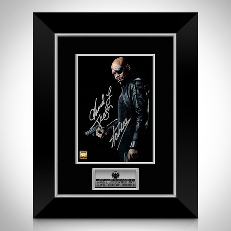 Nick Fury // Samuel L. Jackson + Stan Lee Signed Photo // Custom Frame