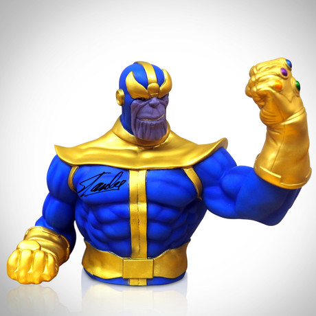Thanos // Signed Stan Lee // Bust Bank Limited Edition Statue