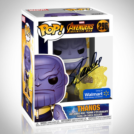 Infinity War Thanos // Stan Lee Signed // Exclusive Edition Funko Pop