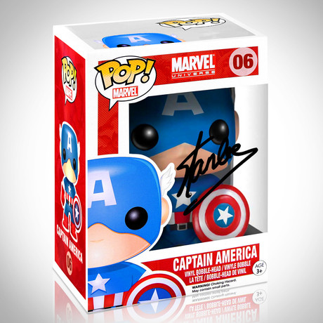 Captain America // Stan Lee Signed // Funko Pop