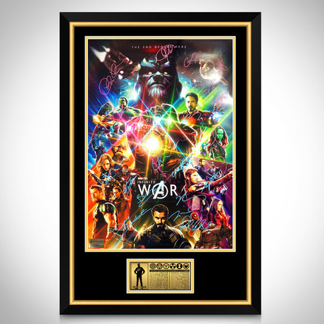 Infinity War // Cast Signed Poster // Custom Frame