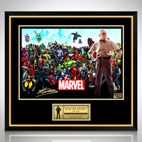 Stan Lee Memorial // Stan Lee Signed Poster // Custom Frame