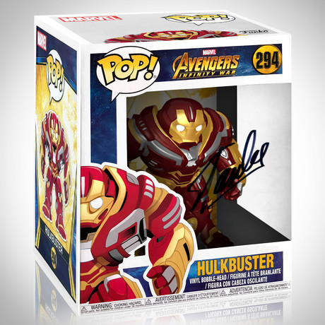 Infinity War Hulkbuster 6 Inch// Stan Lee Signed // Funko Pop