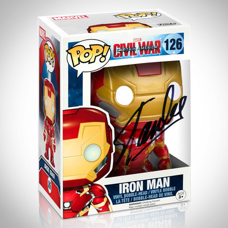 Iron Man // Stan Lee Signed // Funko Pop