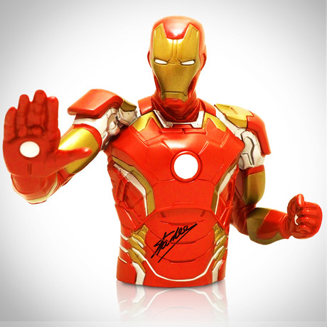 Iron Man // Stan Lee Signed // Bust Bank Limited Edition Statue
