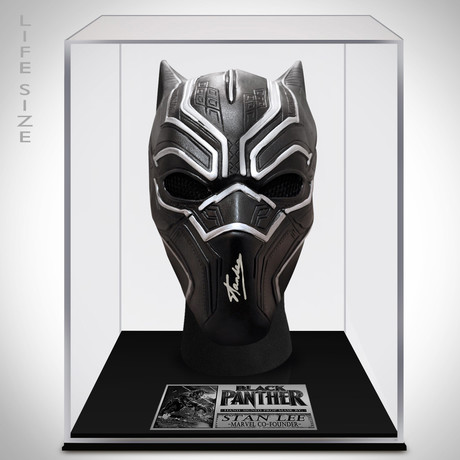 Black Panther // Stan Lee Signed Mask Prop // Custom Museum Display (Signed Mask Only)
