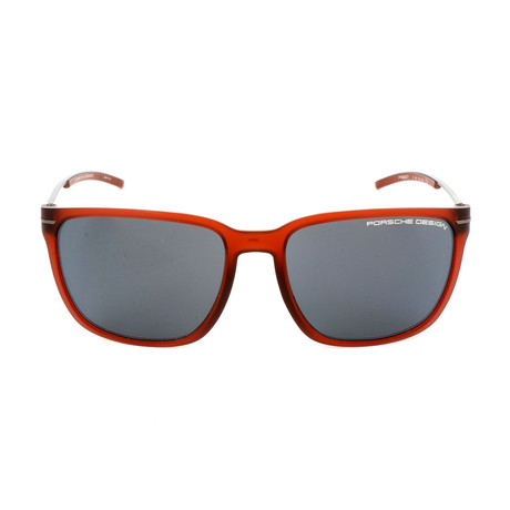 Unisex P8637 Sunglasses // Red Transparent