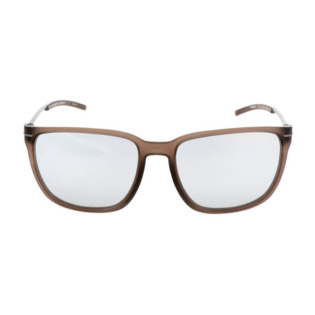 Unisex P8637 Sunglasses // Transparent Brown
