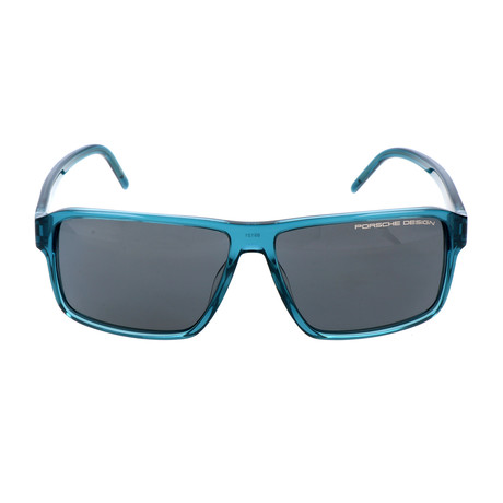 Men's P8634 Sunglasses // Transparent Blue