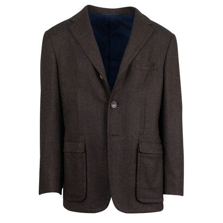 D'Avenza // Wool 3 Roll 2 Button Sport Coat Blazer // Brown (US: 48R)