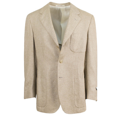 D'Avenza // Cashmere-Silk 3 Roll 2 Button Sport Coat // Brown (US: 48R)