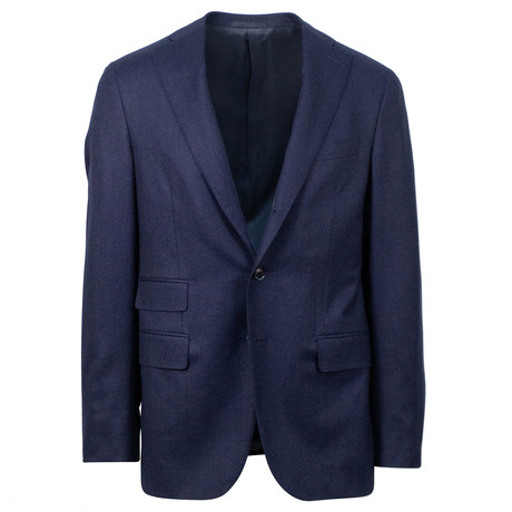 Caruso // Wool 3 Roll 2 Button Sport Coat // Blue (US: 48R)