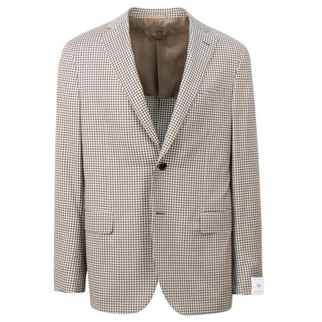 Check Wool 2 Button Sport Coat // Beige (US: 48R)