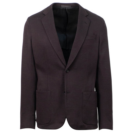 Caruso // Cotton 2 Button Sport Coat // Purple (US: 48R)