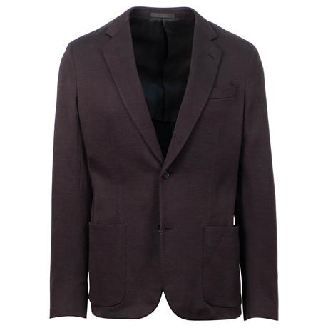 Cotton 2 Button Sport Coat // Purple (US: 48R)