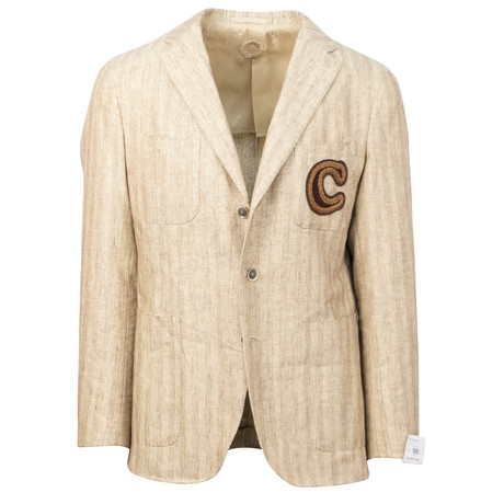 Caruso // Cotton + Linen Blend 3 Button Sport Coat // Beige (US: 48R)