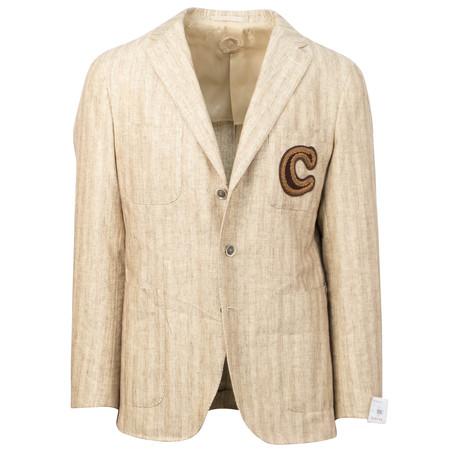Cotton + Linen Blend 3 Button Sport Coat // Beige (US: 48R)