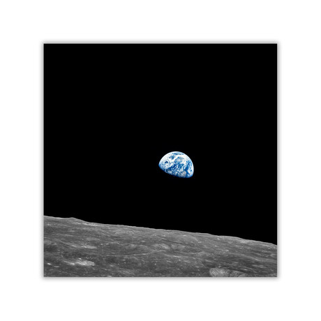 "First Earthrise // C-Print (11.8""W x 11.8""H)"