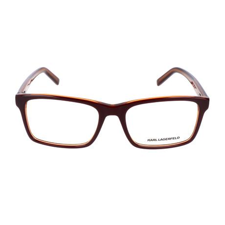 Unisex KL884 Frames // Burgundy + Orange