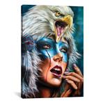 """Eagle Spirit Hood // Derek Turcotte (12""""W x 18""""H x 0.75""""D)"""