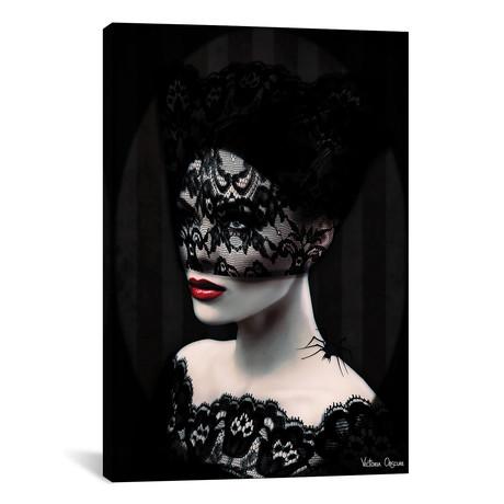 """Black Lace // Victoria Obscure (18"""" W x 26"""" H x 0.75"""" D)"""