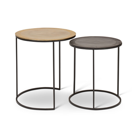 Mandala End Table // Set of 2