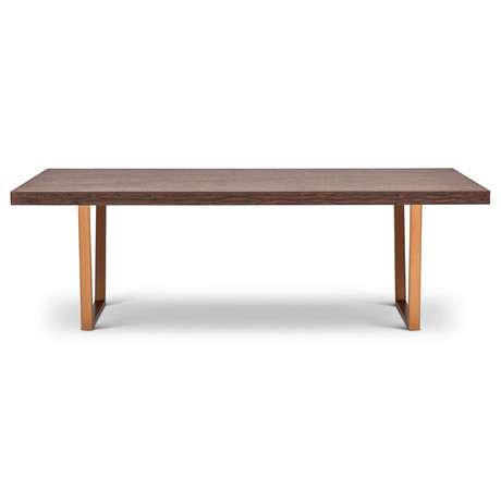 Jake Dining Table // Sumatra Brown (Burnished Brass)