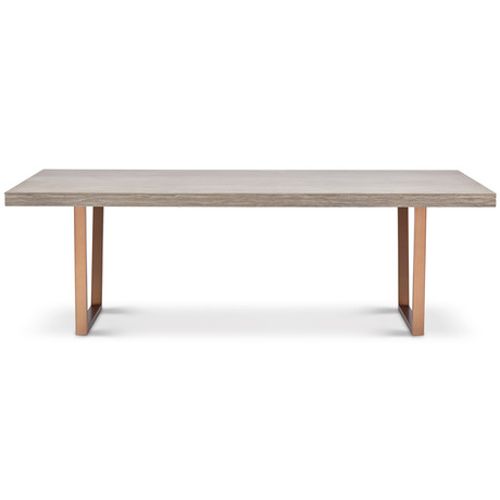 Jake Dining Table // Putty Grey (Burnished Brass)