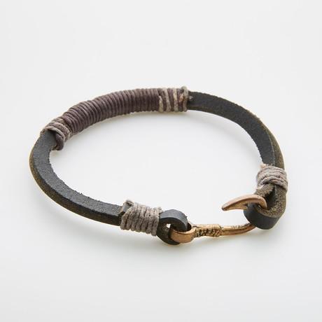 Fish Hook Leather // Wrap Bracelet
