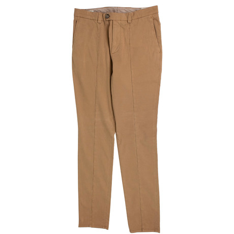 Brunello Cucinelli // Cotton Crête Dress Pants // Camel (50)