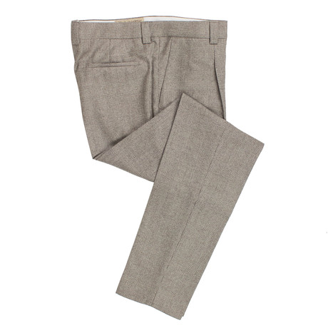 Brunello Cucinelli // Plaid Wool Dress Pants // Brown (54)