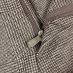 Brunello Cucinelli // Plaid Wool Dress Pants // Brown (54)