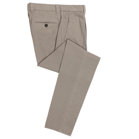 Brunello Cucinelli // Cotton Blend Pleated Dress Pants // Tan (50)