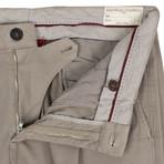 Brunello Cucinelli // Cotton Blend Pleated Dress Pants // Tan (50)