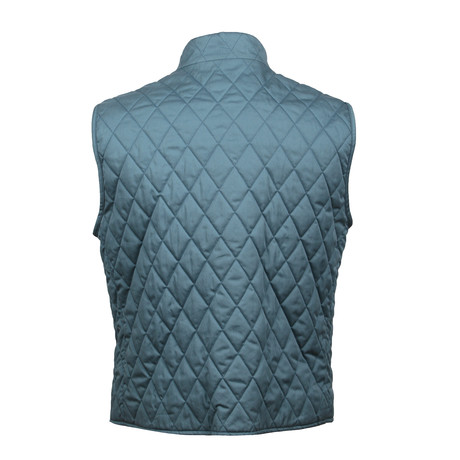 Quilted Vest // Teal (XS)