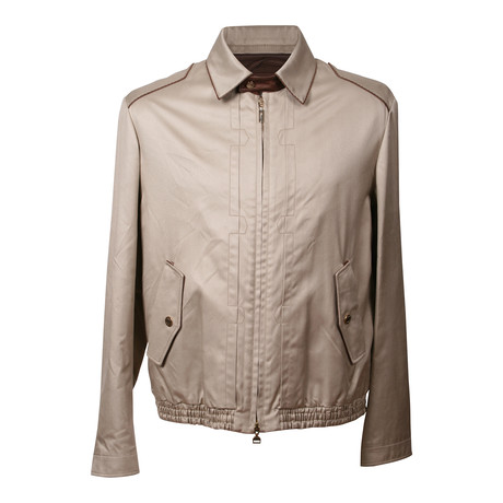 Silk Baseball Jacket // Beige (XS)
