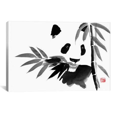 "Eating Bamboo (26""W x 18""H x 0.75""D)"