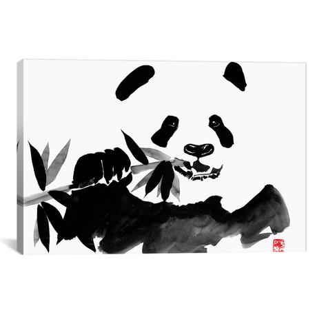 "Eating Panda (26""W x 18""H x 0.75""D)"