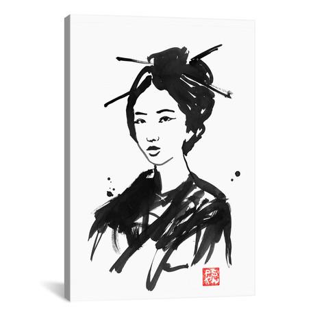"""Geisha II (18""""W x 26""""H x 0.75""""D)"""