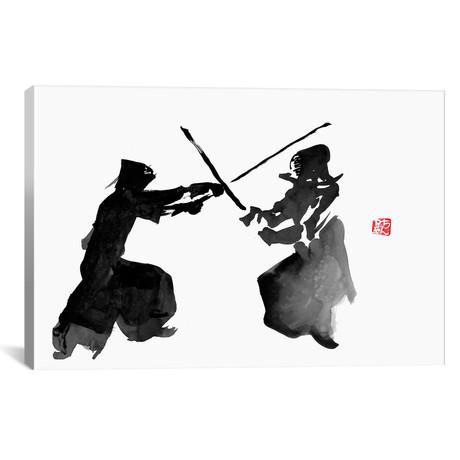 """Kendo Fight (26""""W x 18""""H x 0.75""""D)"""