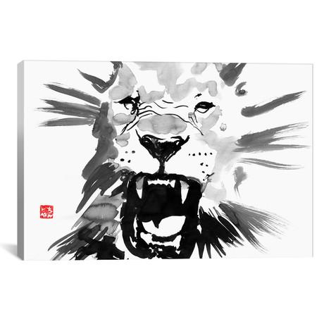 """Lion (26""""W x 18""""H x 0.75""""D)"""